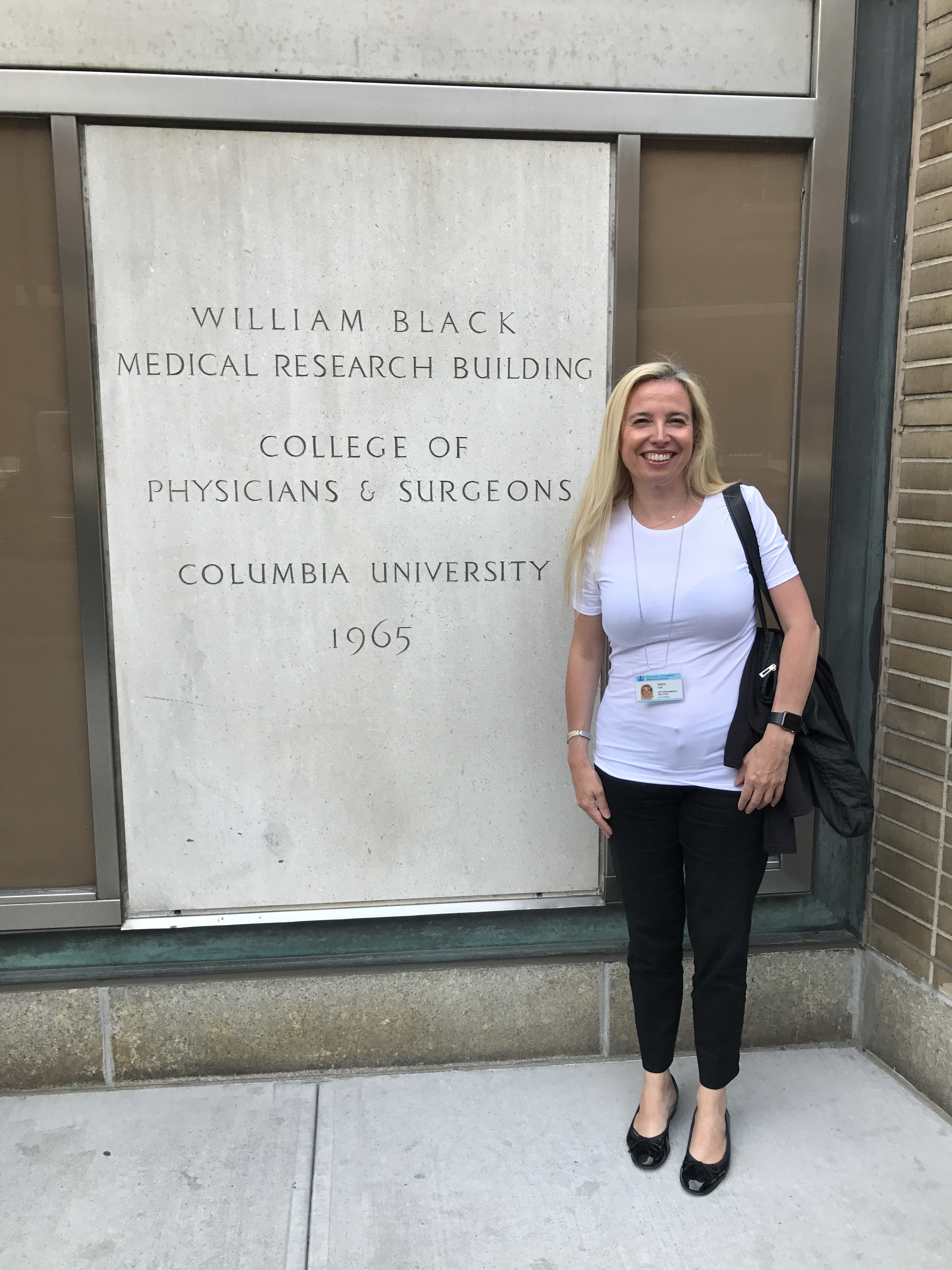 La Prof.ssa Stefania Corti presso la Columbia University Motor Neuron Center New York