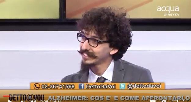 Alzheimer: il dott. Andrea Arighi ospite A Detto a Voi -1° parte