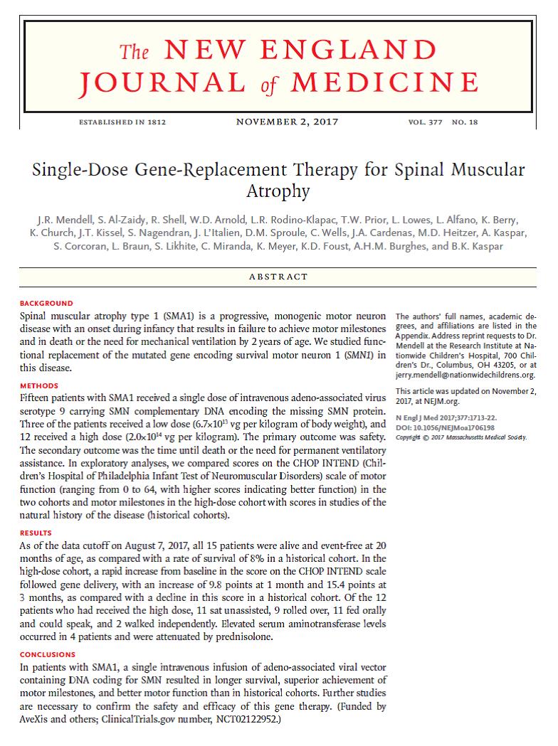SMARD1 - terapia genica